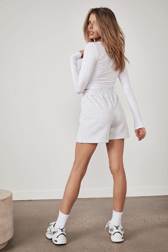 Hype Fleece Short, SILVER MARLE