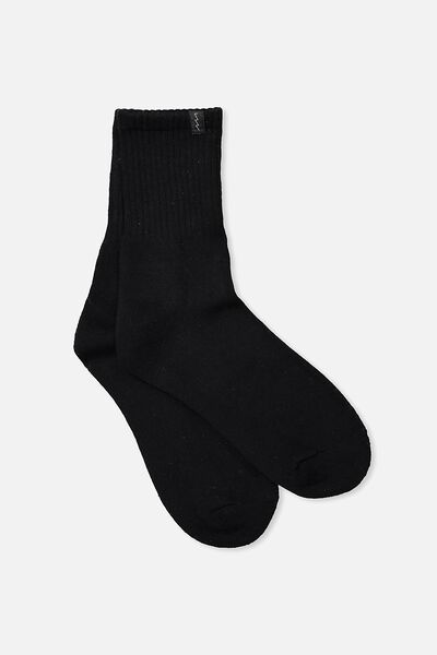 Retro Sport Sock, BLACK