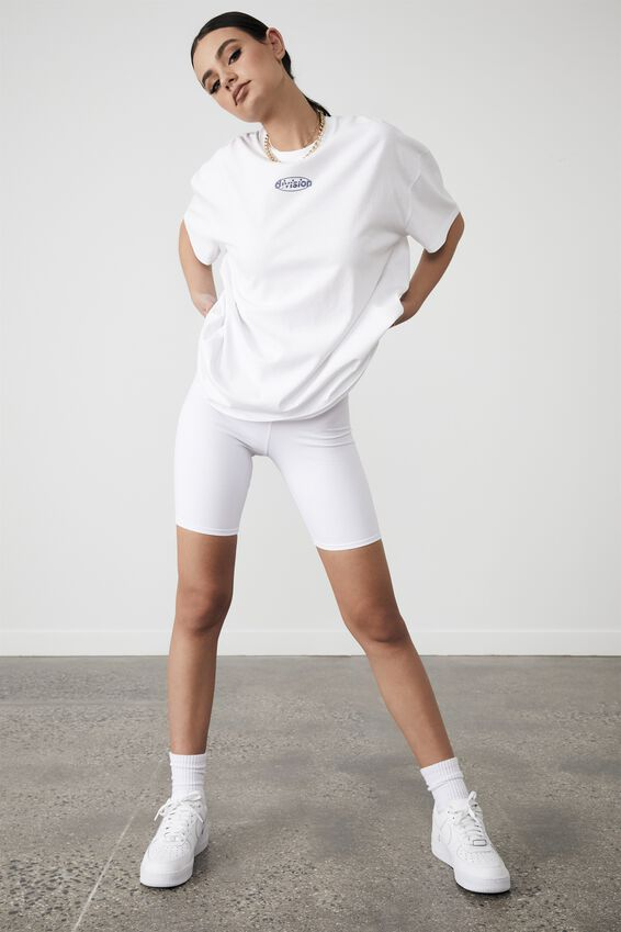 Super Relaxed Graphic Tee, WHITE/DIVISION