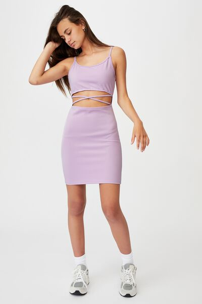 Criss Cross Front Dress, ORCHID BLOOM