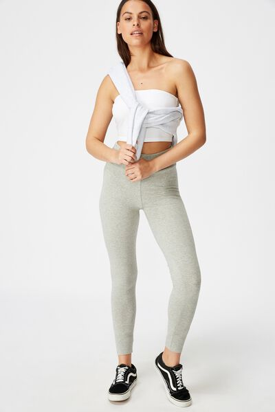 High Waisted Legging, GREY MARLE