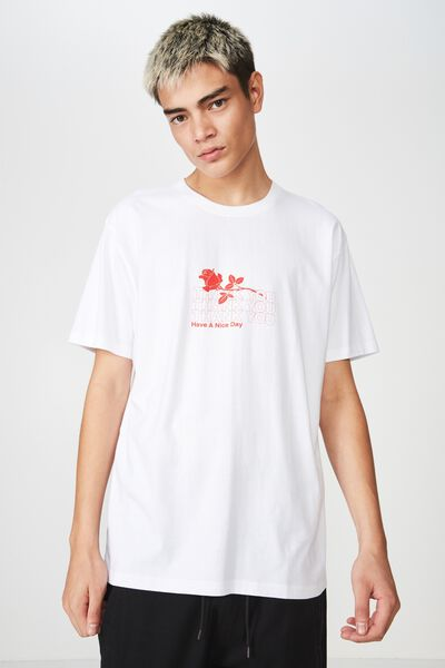 Graphic T Shirt, WHITE/CASH THANKS