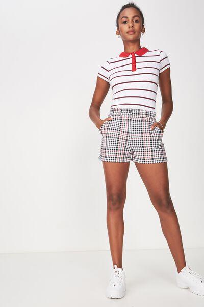 Striped Polo Top, ASHTON STRIPE_WHITE