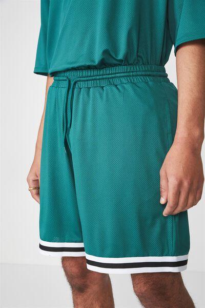 Tape Trim Shorts, ALPINE GREEN