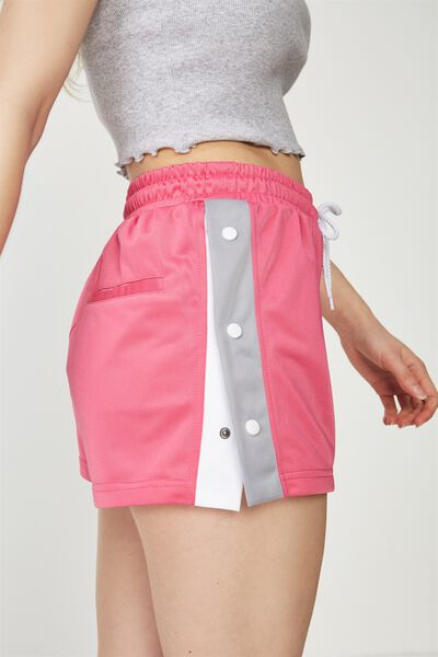 Popper Short, PINK_LILAC GREY/WHITE