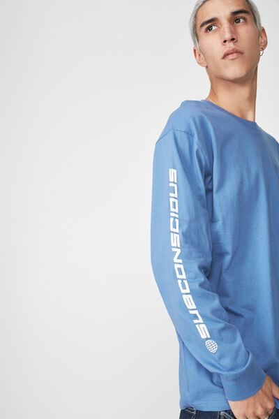 Ls Pocket T Shirt, BLUE/SUBCONSCIOUS