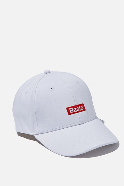 Classic Baseball Cap, BASIC WHITE