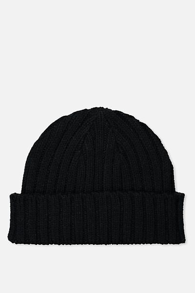 Fishermans Beanie, BLACK