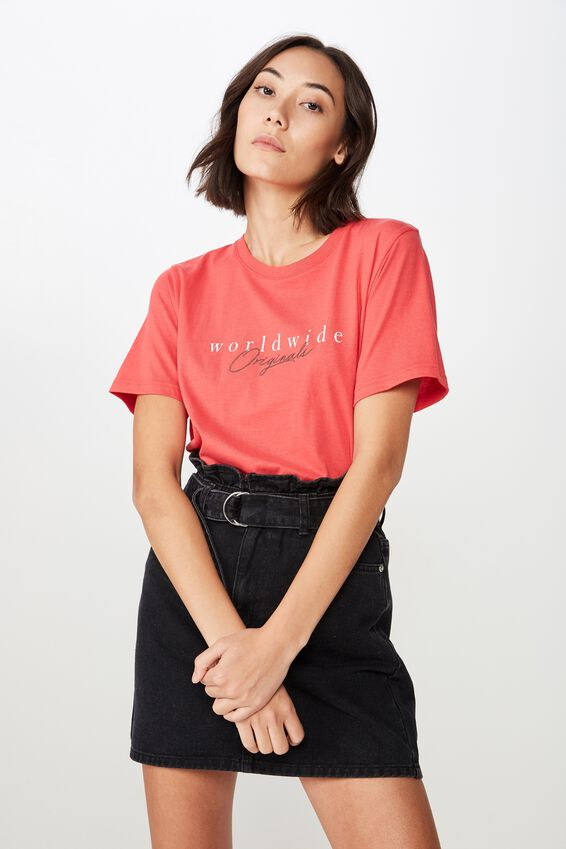 Relaxed Graphic T Shirt, WASHED TOMATO/WORLDWIDE