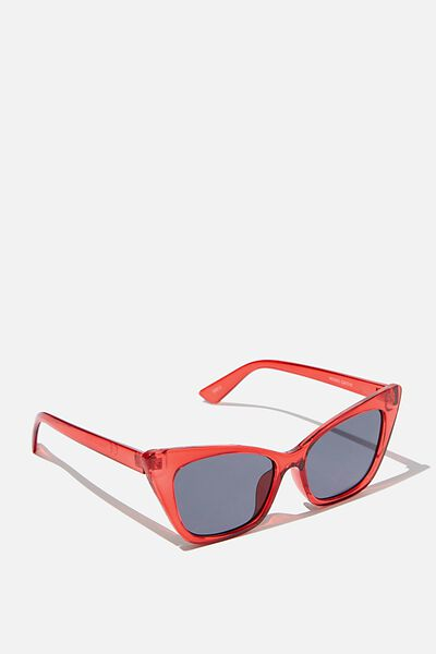 Kenzie Cateye Sunglasses, S.RED_SMK