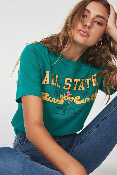 Elastic Hem T Shirt, SHADY GLADE_ALL STATE