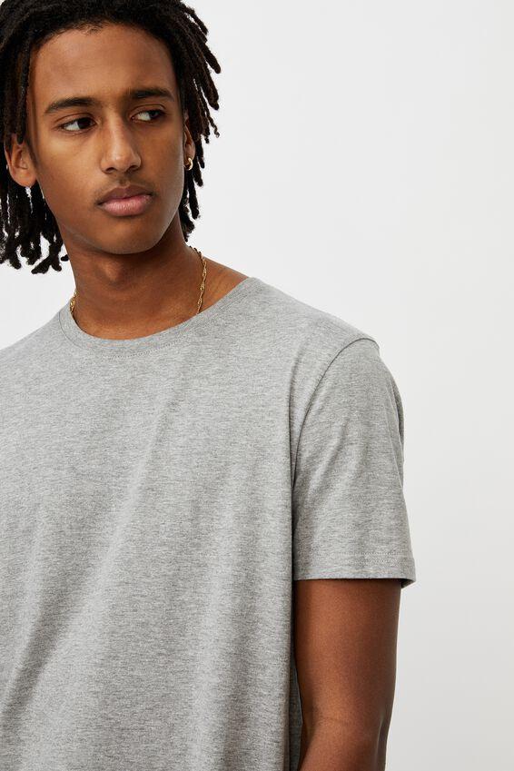 Longline T Shirt., TRUE GREY MARLE