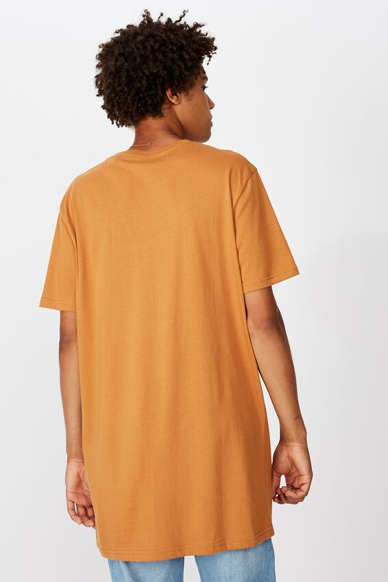 Longline T Shirt, CARAMEL