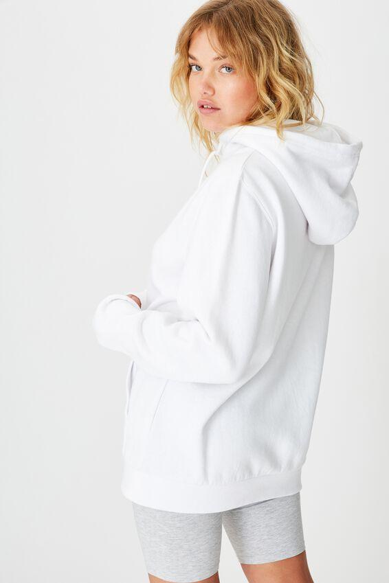 Basic Hoodie, WHITE