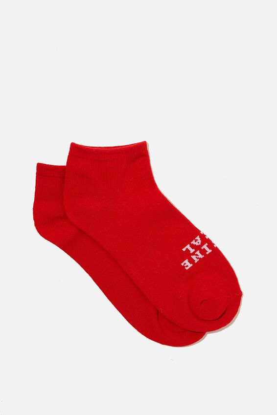 Anklet Original Sock, DEFINE REAL SLOGAN/RED APPLE