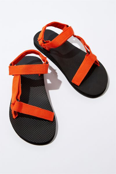 G-Utility Sandal, BLACK_ORANGE STRAP