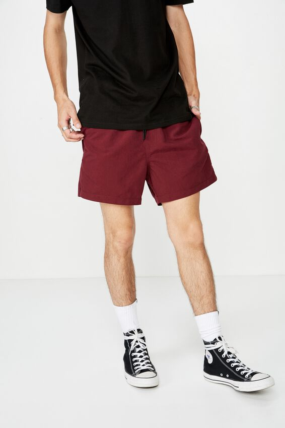 Resort Short, BURGUNDY