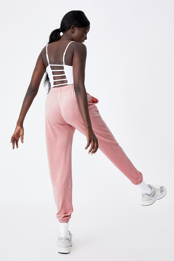 Velour Classic Trackpant, SILVER PINK