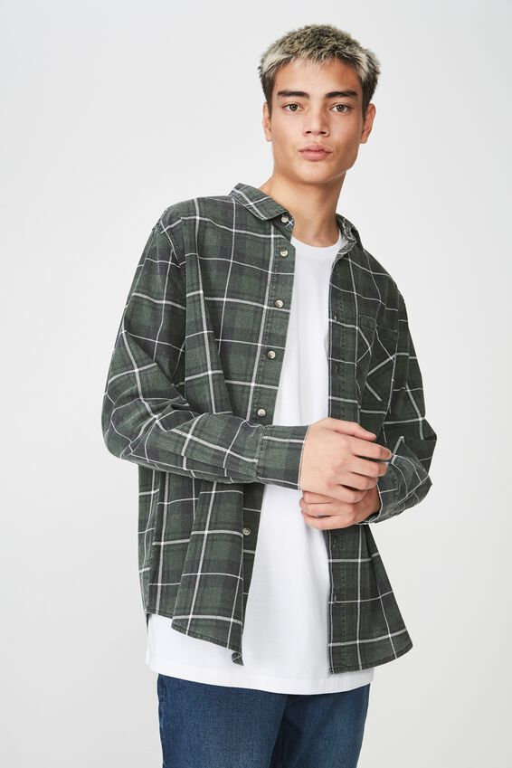 Long Sleeve Check Shirt, DUFFEL CHECK