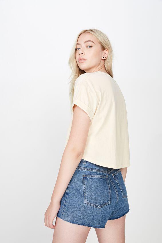 Short Sleeve Crop Fct Tshirt, FOG