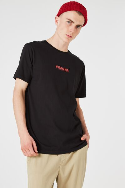 Tagged Tee, BLACK/DOUBLE VISION