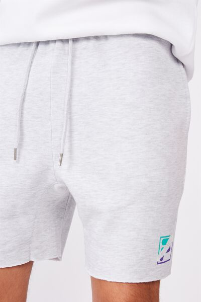 Fila Lcn Fleece Short, SILVER MARLE/CUT BACK