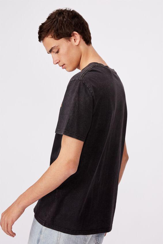 Regular Graphic T Shirt, WASHED BLACK/MOTOR CITY