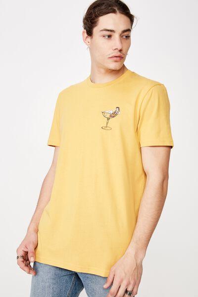 Slim Graphic T Shirt, CHEDDAR/ALOHA