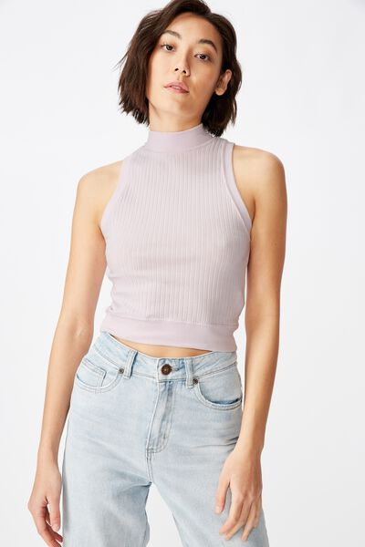 Funnel Neck Tank, ORCHID HUSH