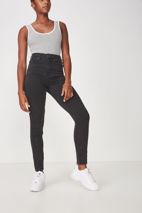 The Skinny High Rise Jean, THRIFT BLACK