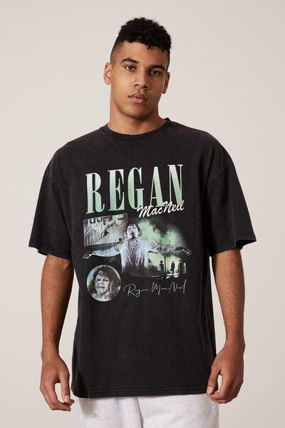 Oversized Halloween T Shirt, LCN WB WASHED BLACK/REGAN HOMAGE
