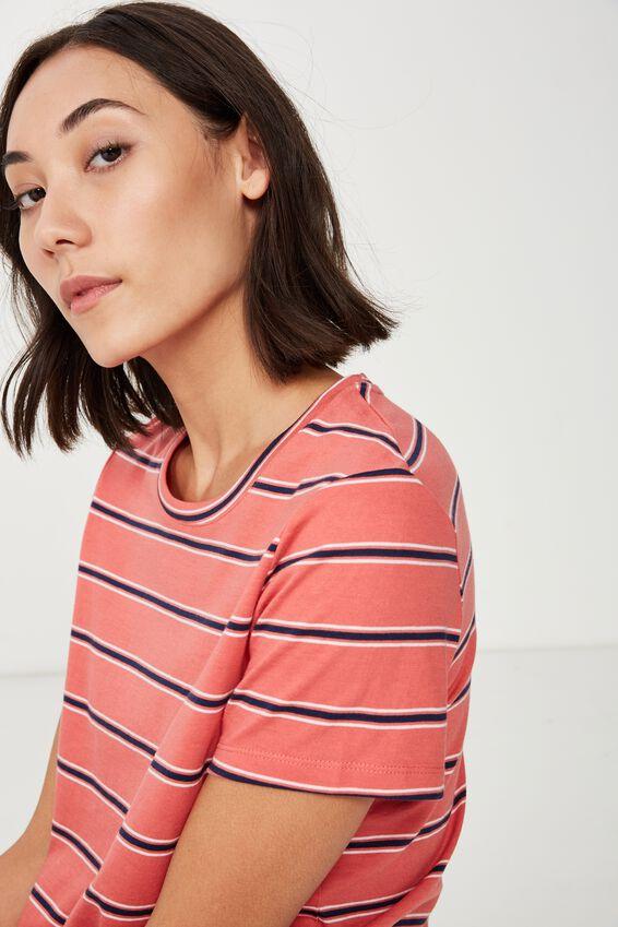 Basic T Shirt Stripe, OAKLEE STRIPE_ROSE