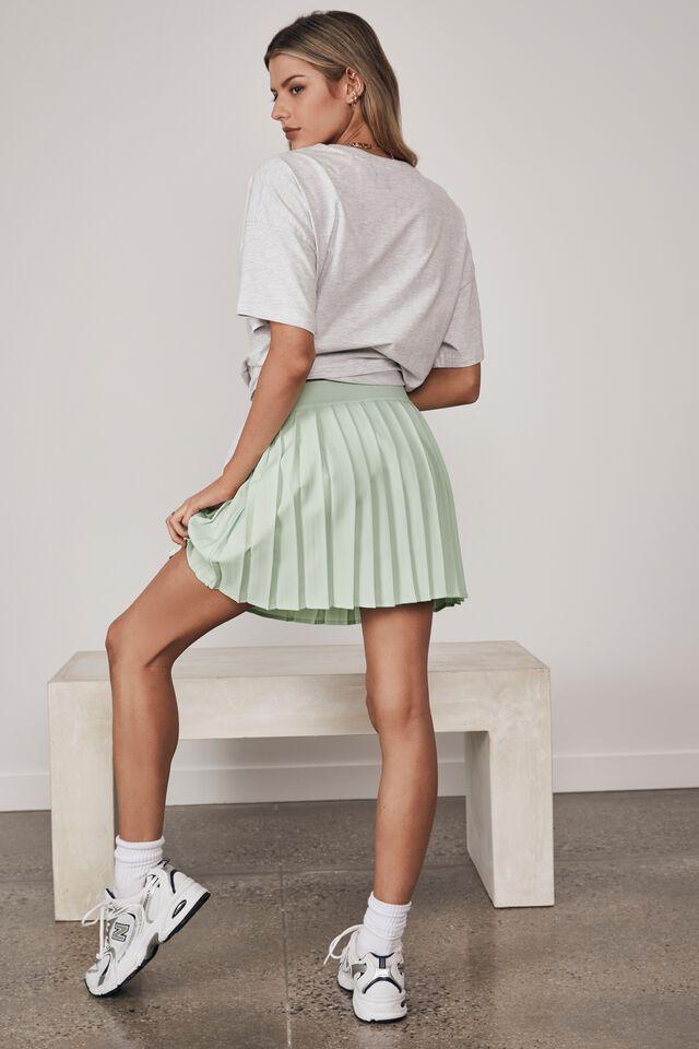 Mini Pleat Skirt, OPAL BLUE