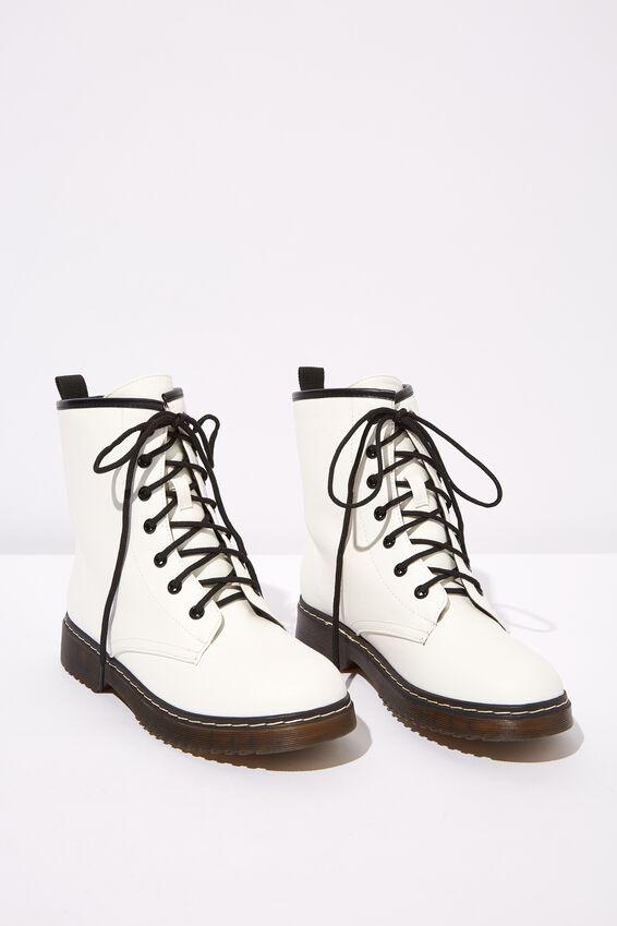 Combat Boot, WHITE