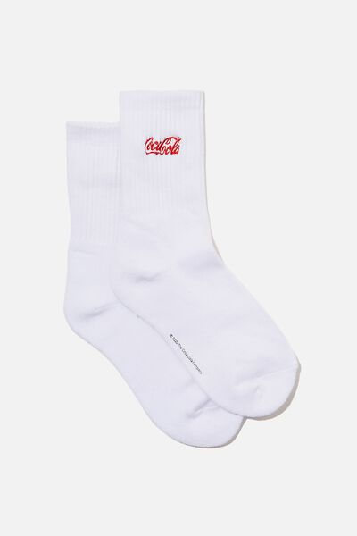 License Retro Sport Socks, COKE WHITE