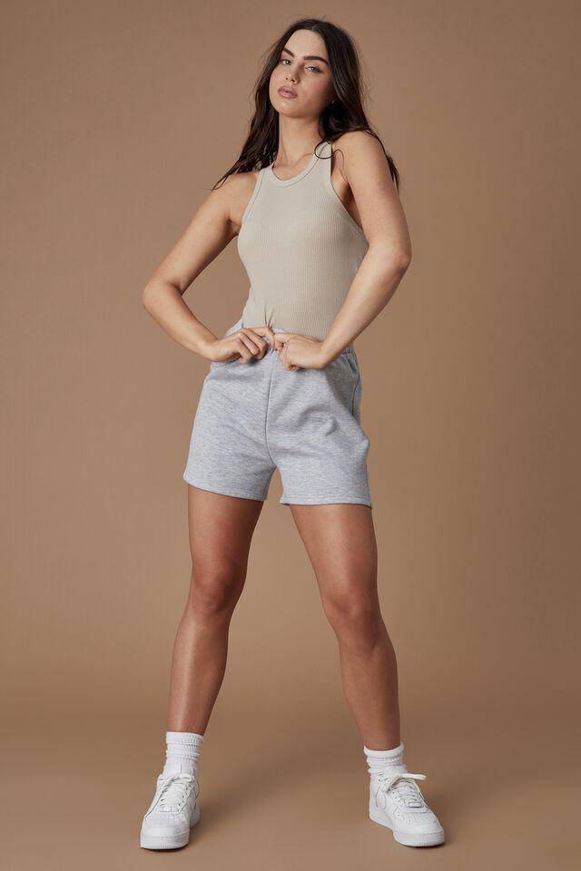 Hype Fleece Short, GREY MARLE