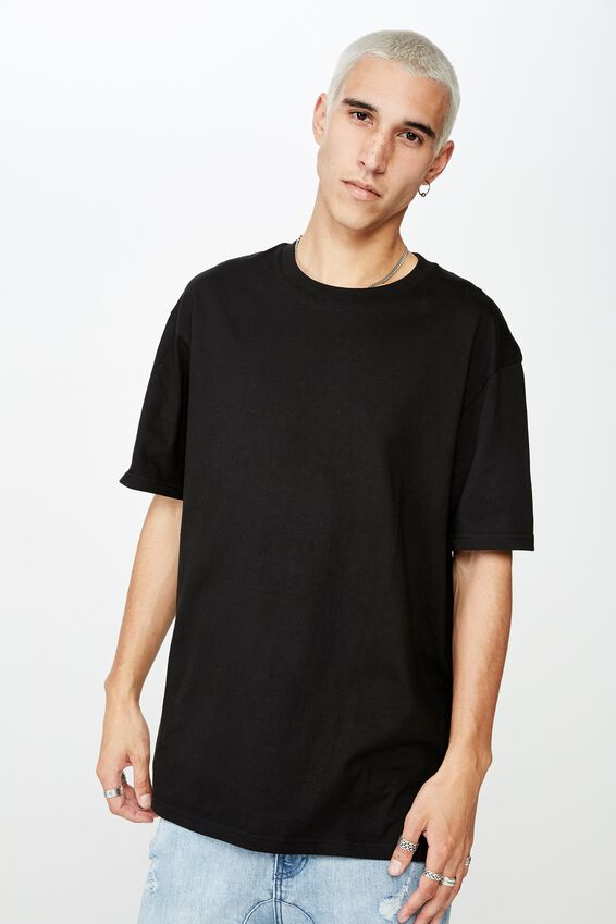Regular T Shirt, BLACK