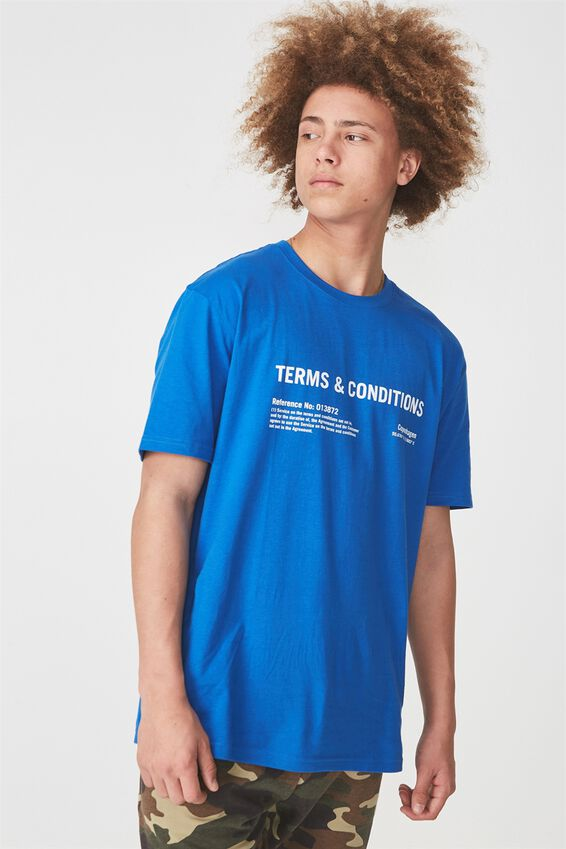 Graphic T Shirt, PRINCE BLUE/TERMS