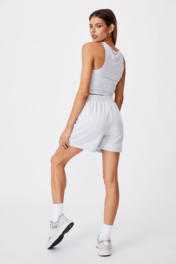 Ruched Front Tank, SILVER MARLE