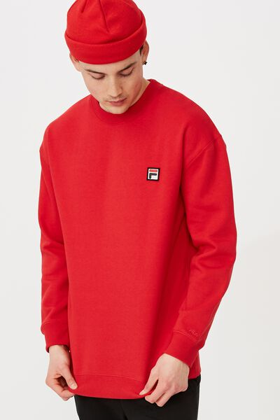 Fila Lcn Oversized Crew, RED/FILA ICON