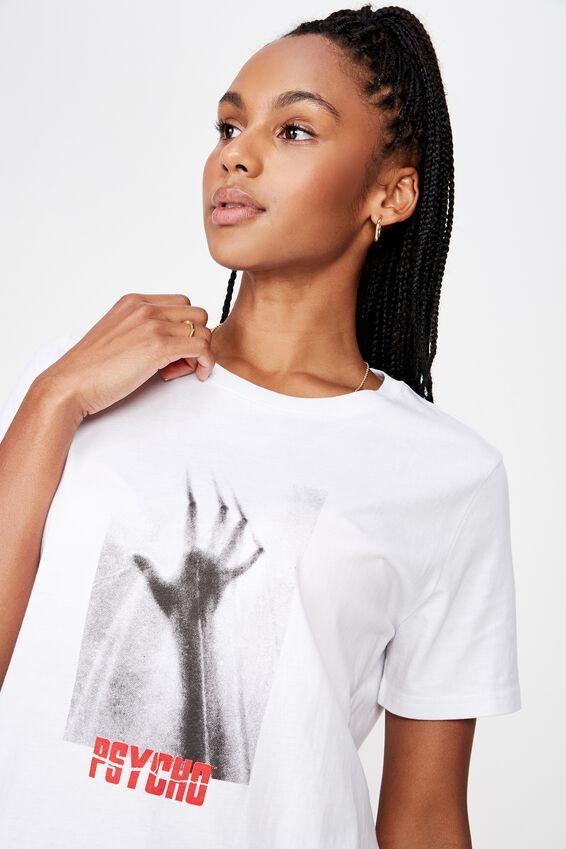 Lcn Relaxed T Shirt, WHITE/PSYCHO