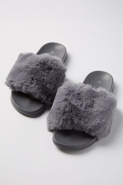 Fluffy Slides, GREY