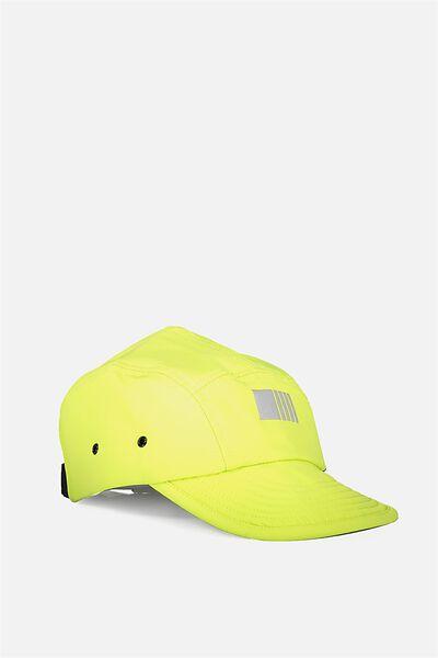 Nylon Military Cap, NEON LIME
