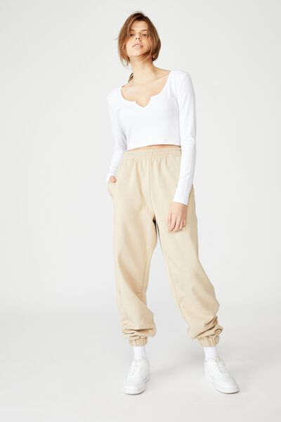 Slouchy Trackpant, HUMUS