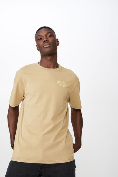 Graphic Washed T Shirt, WASHED SAND/AURORA