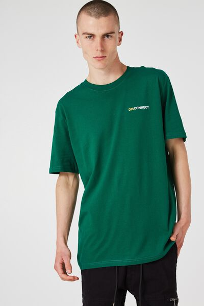 Og Amped Tee, EVERGREEN/DISCONNECTED LINES