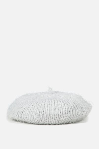 Plush Beret, PEARL BLUE