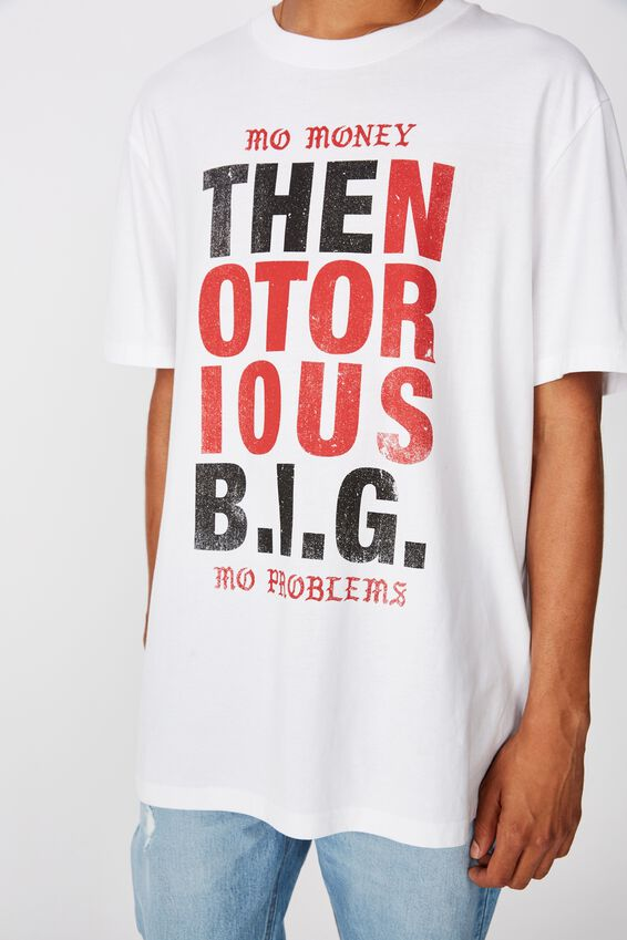 Regular License T Shirt, WHITE/THE NOTORIOUS BIG