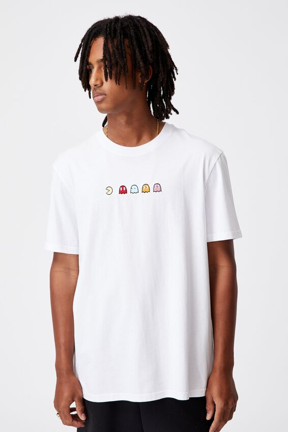 Regular Gaming T Shirt, LCN PAC WHITE/PAC MAN CHASE