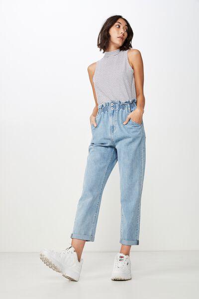 Paperbag Jean, THRIFT SKY BLUE